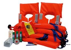 Kit de Salvamento reglamentario Zonas 5 y 6 para 6 personas - Equipo obligatorio para categoria D, navegación a menos de 5 millas de la costa.