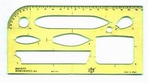 Plantilla de maniobras DH - Facilita el concentrarse en el problema a resolver de MANIOBRA, TEORIA DEL BUQUE Y COMPENSACION, con perfiles de los buques siempre iguales.  Medidas: 180x90x2 mm