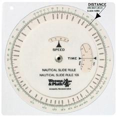 Computador Tiempo / Distancia y Velocidad - Fácil de operar, de lectura y exactitud. Da solución inmediata a todos los problemas de tiempo, distancia y velocidad..   . Unidades:.   Velocidad: nudos ó m/h.   Tiempo: horas, minutos o segundos.   Distancia: millas ó statutes