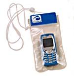 Bolsa estanca para telefono movil o GPS - Bolsa estanca de material plástico translucido soldado, diseñada para proteger el teléfono móvil o el GPS con sistema de cierre tipo velcro y cordón de sujeción..   Medidas: 9,5x19 cm