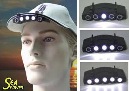 Luz para Visera de Gorra 5 LED - Antorcha de gorra 5 Leds blancas. 75e866c9d0a